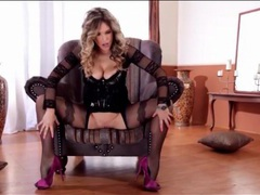 Flawless lingerie and high heels on blonde babe movies at reflexxx.net