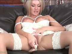 Milf amber jayne masturbates in white dress movies at sgirls.net