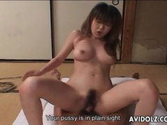 Hairy japanese vagina rides dick in close up movies at lingerie-mania.com