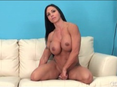 Fit milf sits her hot cunt on a dildo videos