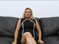 Curvy amateur milf masturbates on casting couch movies at lingerie-mania.com