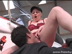 Slutty girl fucked on wing of an airplane movies at lingerie-mania.com