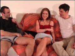 Two guys get naked with a slut that sucks dick videos