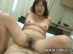 Michiko okawa - japanese granny riding on a young cock tubes at japanese.sgirls.net