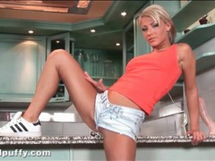 Hottie in tight denim shorts shakes her ass movies at dailyadult.info