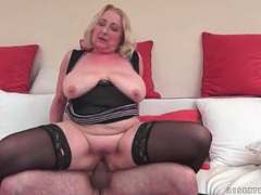 Big butt mature in black stockings fucked videos
