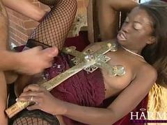 Harmony vision black slut takes on two white boys movies at kilosex.com