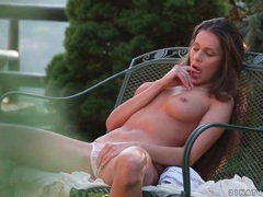 Incredible tits on this masturbating brunette videos