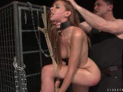 Leashed and tied up girl fucked from behind videos