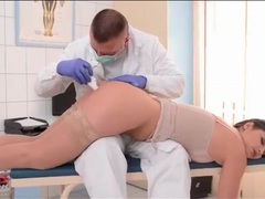 Doctor takes anal temperature of cute girl movies at sgirls.net
