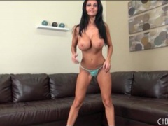 Big tits pornstar ava addams oils up her boobs videos