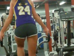 Tight ass girls on cardio machines at the gym videos