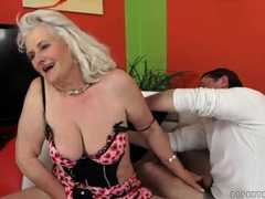 Granny wears sexy lingerie and sucks a dick videos