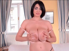 Sensual striptease from lovely luna amor videos