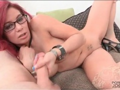 Slut with pink hair sucks his dick lustily movies at kilovideos.com
