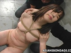 Poor asian babe punished tubes at korean.sgirls.net
