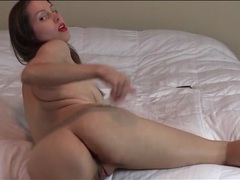 Lipstick and thong on ass shaking brunette girl videos