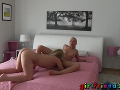 Girlfriends have fun in changing room then go home and make a hot sextape movies at sgirls.net