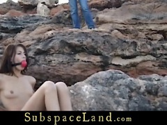 Waterfront bdsm punishment for a cute slave girl movies at kilopills.com