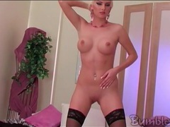 Bleach blonde has breathtaking big perky tits movies at sgirls.net