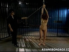 Asian chick sexually pleased in bondage tubes at sgirls.net