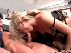 Secretary slut in sexy lingerie fucks her boss movies at sgirls.net