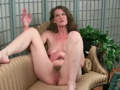 Mature strips nude to show her hairy pussy videos