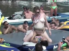 Girls eat pussy for an audience at lake party movies at lingerie-mania.com