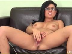 Eva angelina masturbates in her glasses videos