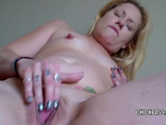 Horny blonde milf lisa is playing with her sweet twat movies at sgirls.net