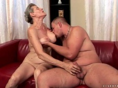 Granny gives blowjob to a younger man videos