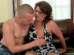 Mature in glasses sucks young dick videos