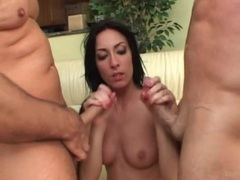 Fucked brunette swallows two hot cumshots movies at kilosex.com