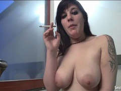 Cigarette smoking girl sucks off a cock videos