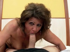 Chubby mature grinds her pussy on his dick movies