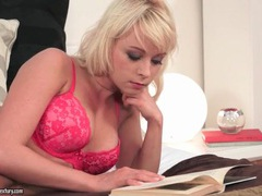 Hot pink lingerie on solo masturbating blonde movies at find-best-lingerie.com
