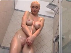Blonde babe soaps up her body and masturbates movies at dailyadult.info