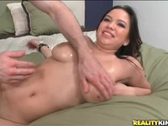Big natural tits oiled up and fucked lustily movies at freekilosex.com