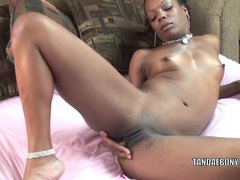 Ebony hottie anastasia is finger banging her twat videos