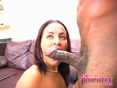 Slut sucks big black cock and gets fucked videos