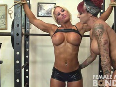 Dani andrews and megan avalon light gym bondage tubes