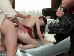 Behind the scenes of anal photo shoot movies at sgirls.net