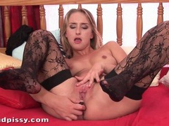 Sexy stockings on girl masturbating her asshole movies at lingerie-mania.com