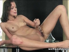 Beautiful brunette fucks wet cunt with a toy movies at freelingerie.us