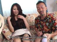 Pretty japanese housewife gives food for sex tubes at lingerie-mania.com