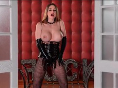 Cathy heaven is stunning in kinky black latex movies at kilosex.com