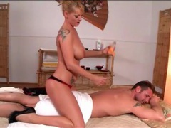 Big titty blonde gives a sexy body massage movies at kilosex.com