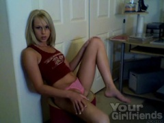Blonde teen camgirl strips to her pink panties movies at kilopics.net