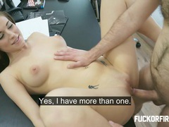 Fucked hard in an office tubes