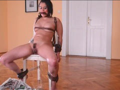 Beauty bound by leather straps pisses lustily movies at find-best-videos.com